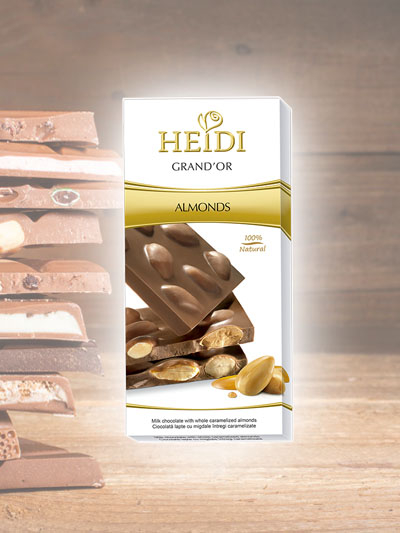 Chocolate Leite com Amendoas Heidi