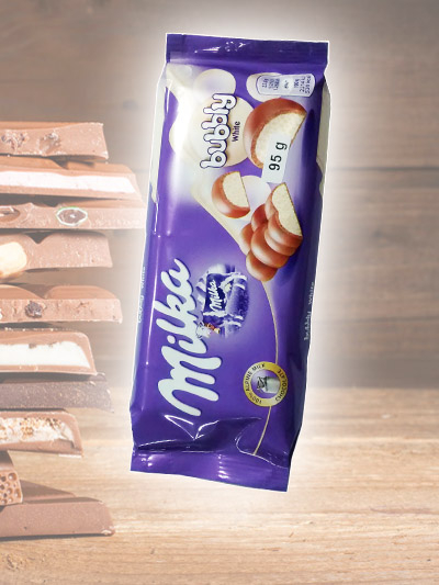 Chocolate Milka Bubbly White
