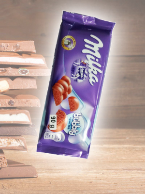 Chocolate Milka Bubbly