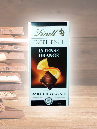 Chocolate Lindt Intense Orange